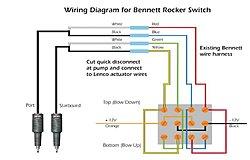 Trim Tab wiring Diagram on a 2007 Baja Outlaw 26 - Offsonly.com Bennett Trim Tabs Switch Wiring Diagram on