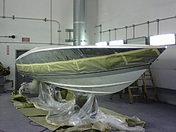 Banana 24 restoration progress-platinum-stripe-starboard-side-masking.jpg