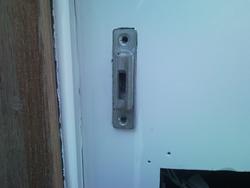 Cafe Cabin entrance door latch receiver-latch.bmp
