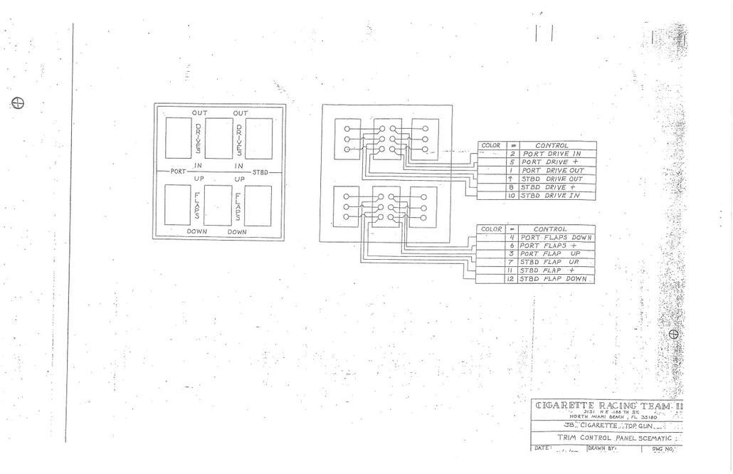 1992 38 u0026 39  cigarette top gun wiring diagram