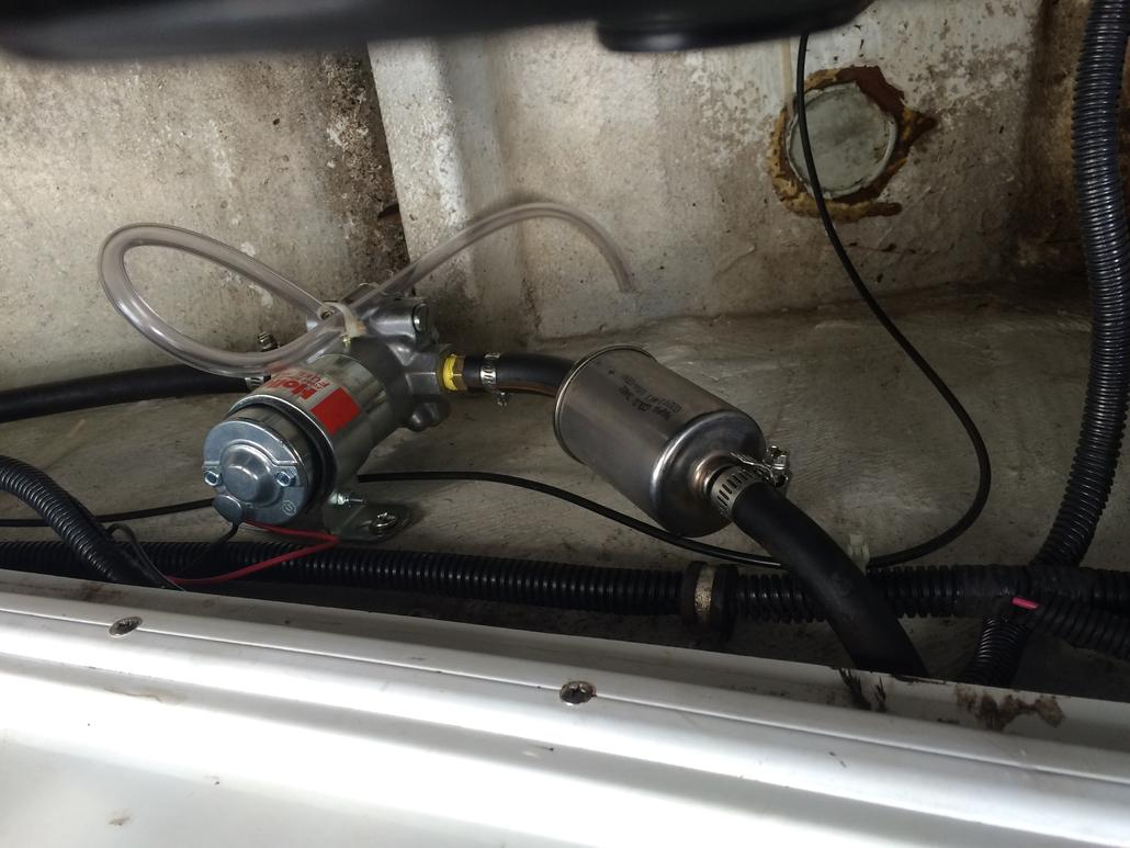 Need to add fuel booster pump for 454 mag mpi, what psi