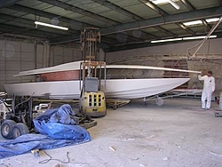 29 Extreme Pleasure Deck Mold is Born !!!-hull-set-down.jpg