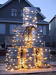 Tree Trimming Party At Wally's House Last Night....-keg-tree.jpg