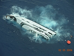 That sinking feeling. Yacht goes down in Bahamas-1statusofvesselonmorningof02-06-06.jpg