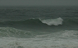 Riderless power boat in Miami-waves.jpg