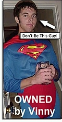 Cash Bar trying to entice Superman to give him a ride during the KW Poker Run-cash.jpg