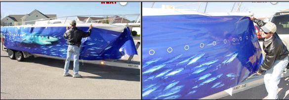 Aqua Wraps Vinyl Boat Wraps Offshoreonly Com
