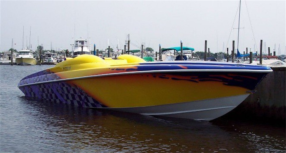 Looking For Pics Of Boats With Purple And Yellow Paint Jobs Offshoreonly Com
