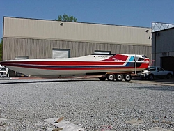 46' Cougar Restoration by Adrenaline Power Boats-46redcougar1.jpg