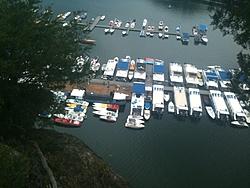 Lake Cumberland Poker Run Roll Call-lcprboatsfrompoint22011.jpg