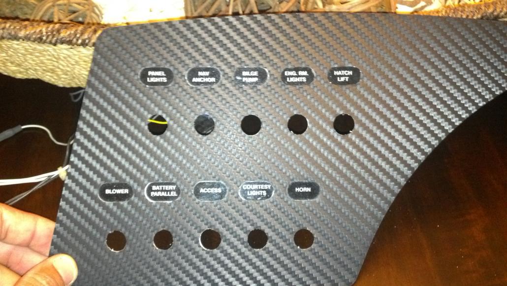 3M Dinoc carbon fiber dash panels - Offshoreonly com