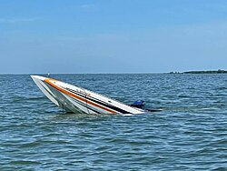 Pic of M35 DCB with only the bow sticking up out of the water , hope all are ok-d3e7b350-7040-49dd-8ffc-b842589599c7.jpeg
