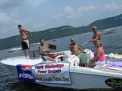 """Receiving """"cards"""" from a dock at a poker run.-panteracardstop.jpg"""