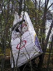 Gladiator flipped in Biscayne Bay...-boat-tree.jpg
