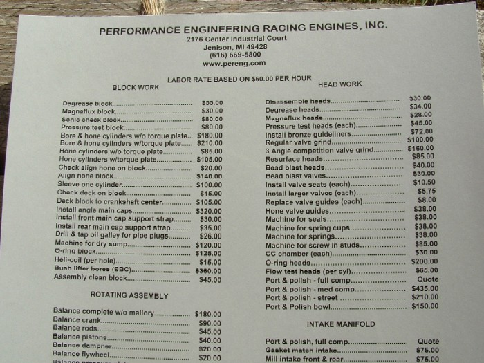 Engine Rebuild Cost >> Approximate Cost To Rebuild Bbc Shortblock Offshoreonly Com