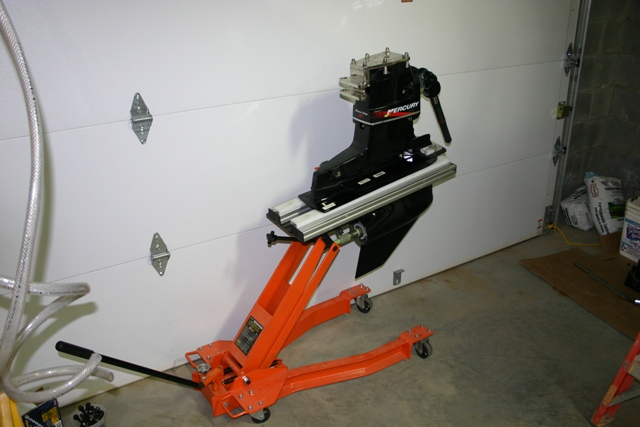Hydraulic Boat Drive : Outdrive stand and lift homemade no welding page