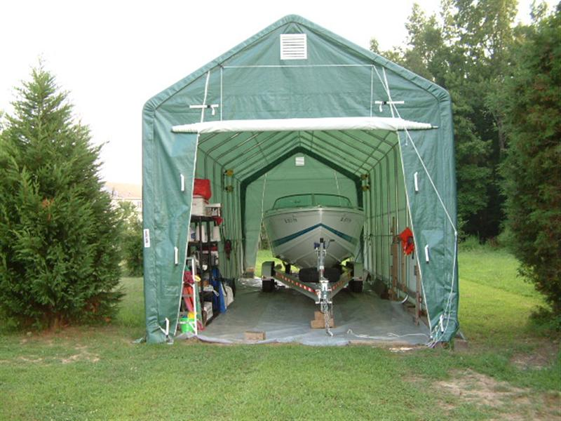 Anyone used tent for temporary boat storage???-dscf0037-medium-. & Anyone used tent for temporary boat storage??? - Offshoreonly.com