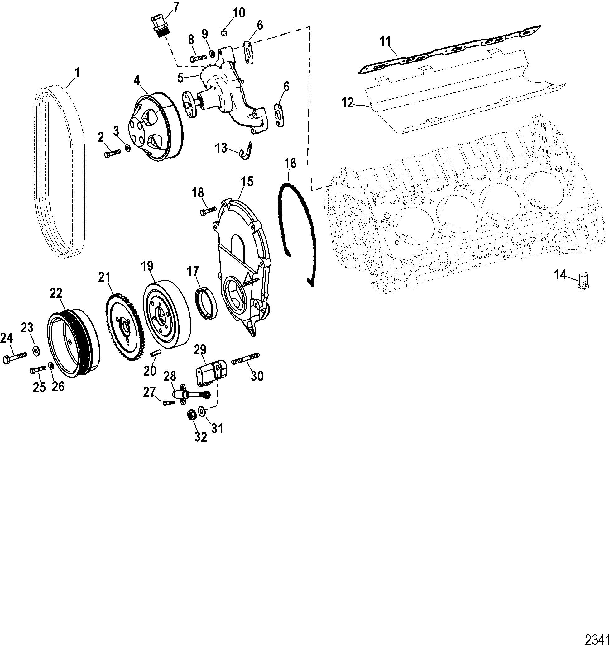 8M0030022 Sensor Crank Position  Mercury 90-275 DFI /& Verado 8283582