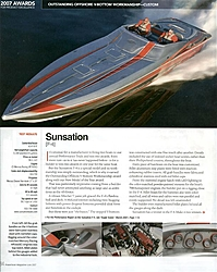 Sunsation Powerboats new 43 F-4 has been completed and tested and wins 2 awards-powerboat-award-pg1.jpg