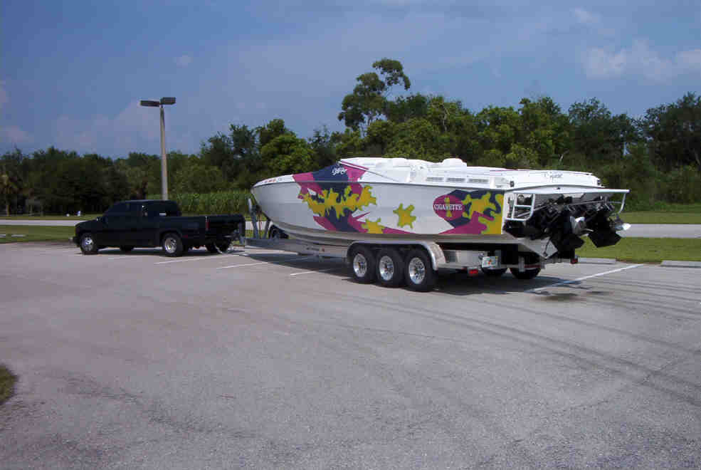 What do you tow your 35 ft boat with offshoreonly com