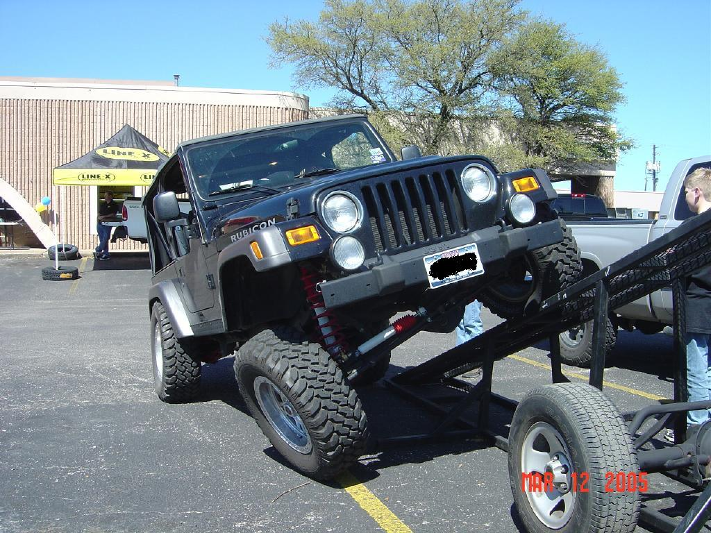 just bought a jeep wrangler tj whats a good lift and tire size. Black Bedroom Furniture Sets. Home Design Ideas