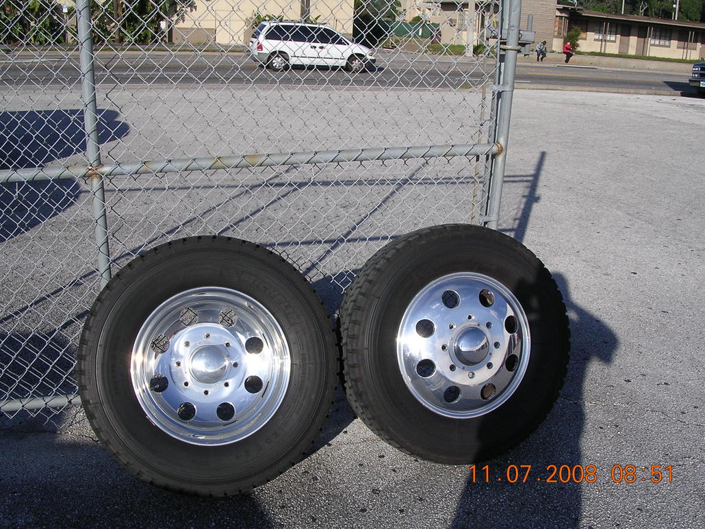 19 5 Direct Fit Alcoa Rims Tires 05 To 08 F350 Dually