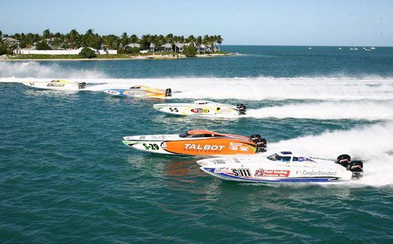 In the 2012 offshore racing season, the Stock class has consistently attracted five- to seven-boat fleets and tight competition.