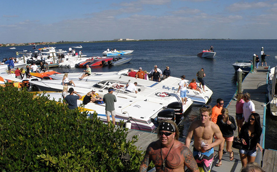 More than 60 boats came out for the Joey Gratton Memorial New Year's Day Fun Run in Sarasota, Florida. (Photo by Ellen Greanleaf.)