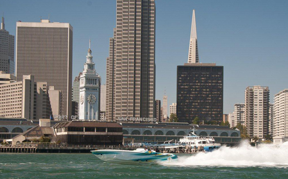 Among the day trips Carl and Betty Zanger make from Discovery Bay is the run to San Francisco Bay.