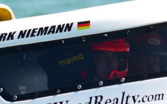 Mark Niemann and Kurt Jagel in Sarasota in 2012. Photo by Lucididee Fast Boats.