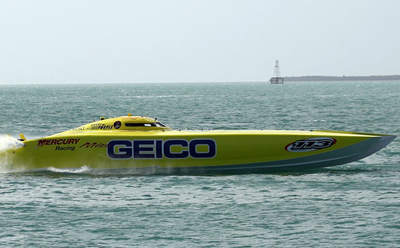 Miss GEICO got the run of its racing career from CMS—but prevailed to take the world title in Superboat Unlimited.