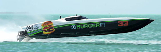 BurgerFi sponsored the Fastboats.com team for the Key West Offshore World Championships.