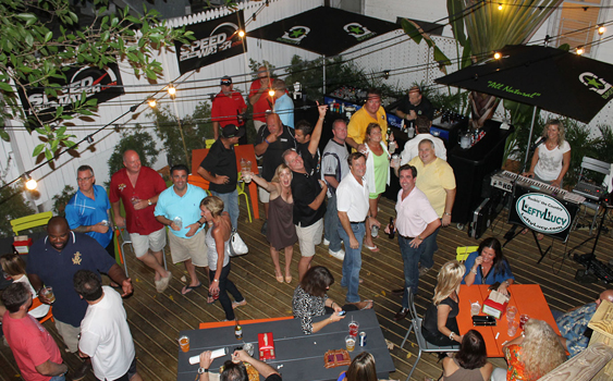 The recently opened BurgerFi in Key West hosted a speedonthewater.com party last Thursday.