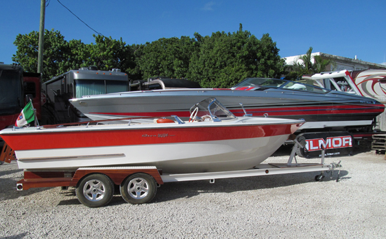 Mark Wilson displayed his classic Riva Rudy Super at FPC Poker Run Village