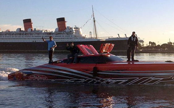 Powered by twin Sterling Performance engines, the catamaran finished the challenging run in front of the iconic Queen Mary in Long Beach.