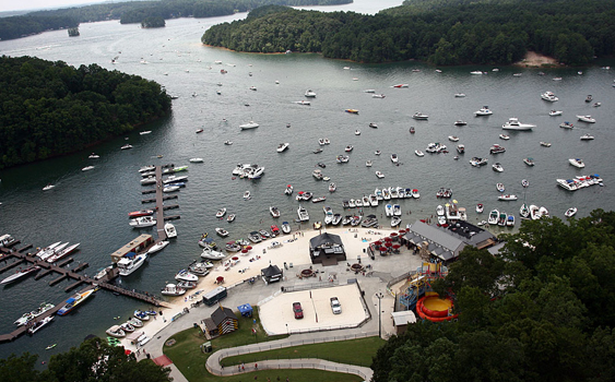 The Pirates of Lanier Poker Run on Georgia's Lake Lanier is expected to be one of the biggest events of the year. Photo by Jeff Gerardi/www.freezeframe.us