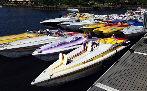 Organizers of the Buffalo Poker Run in Western New York are anticipating another 100-plus-boat turnout in 2014. Photo by Tim Sharkey