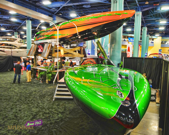 Everything and everyone a performance-boat lover wants to see will be at this year's Miami International Boat Show. (Photo by Jay Nichols.)