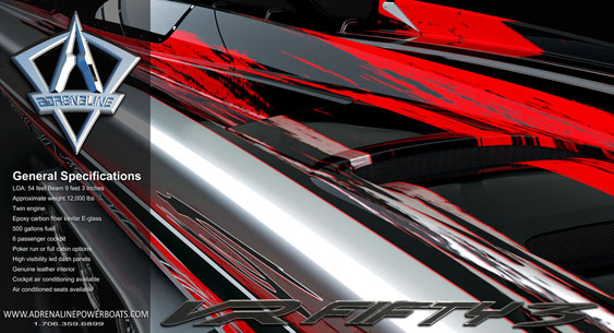 Georgia-based Adrenaline Powerboats will begin tooling its all-new VR 53 model in early March.