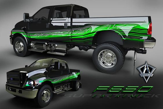 Thanks to the 3D renderings provided by Adrenaline Powerboats, this F650 design produced for Extreme Supertrucks looks extremely real.