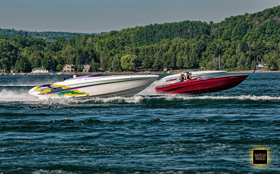 Capped at 100 boats this year, the Boyne Thunder Poker Run attracts an array of go-fast boats to some of the most beautiful water in the country. Photos by Jay Nichols (http://naplesimage.com)