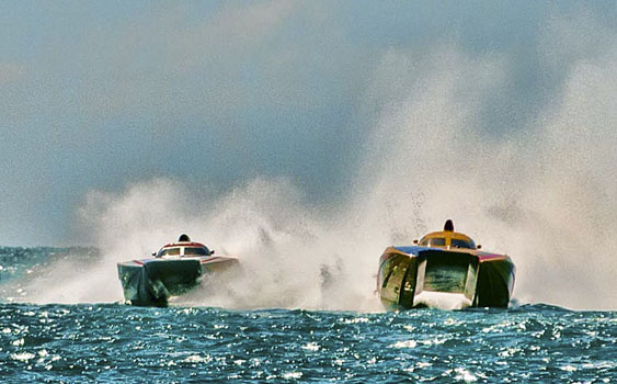 With nine or more boats in the field, the competition is expected to be stiff this year in the Superboat class. Photo by Jay Nichols