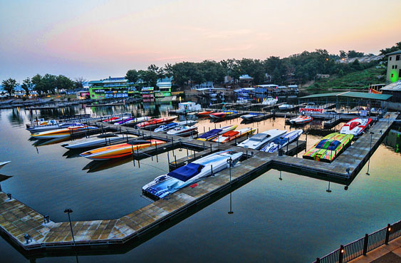 Although it may not be packed with high-dollar catamarans come June, Camden on the Lake will host a breakfast before the start of the inaugural Lake of the Ozarks Fun Run. Photo by Jay Nichols