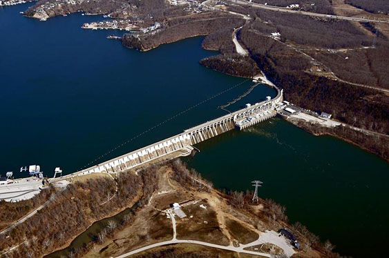 Along with being a starting point for the Lake of the Ozarks Fun Run, the Bagnell Dam is a primary spectator spot for the Lake Race. Photo courtesy Lake of the Ozarks Fun Run