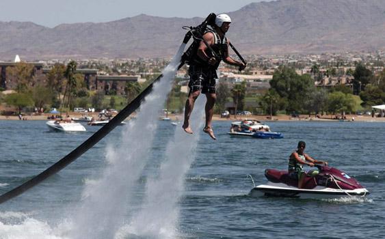 Two years ago Dean Loucks took a flight over Arizona's Lake Havasu that he'll never forget.