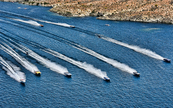 With safety as a priority, poker run formations like this one from the Desert Storm Poker Run can be an amazing sight. Photo by Jay Nichols