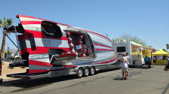Once again, the Teague Custom Marine display at the Desert Storm Poker Run's Street Party was impressive.