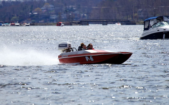 With OPA's Lake Hopatcong race cancelled, photographer Tim Sharkey had to find other action to shoot.