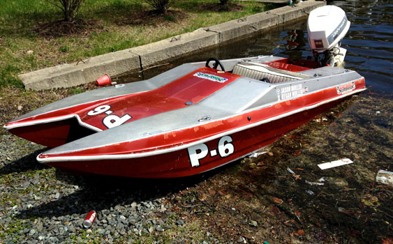 Training bed for future offshore racers—a 13-foot Fun Cat with outboard power.