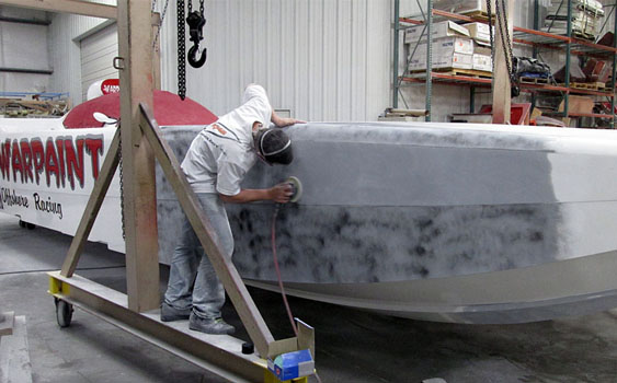 According to Bob Vesper, the owner and driver of Team Warpaint, the crew at Marine Technology Inc. did a great job rebuilding the catamaran. Photo courtesy Team Warpaint